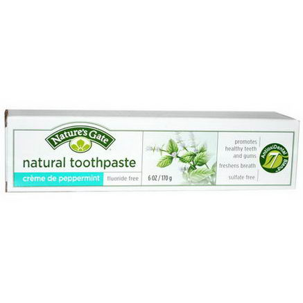 Nature's Gate, Natural Toothpaste, Creme de Peppermint, 6oz (170g)