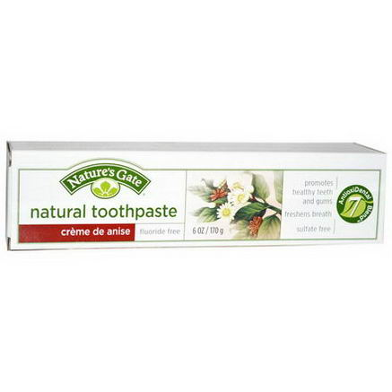 Nature's Gate, Natural Toothpaste, Creme de Anise, Fluoride Free, 6oz (170g)