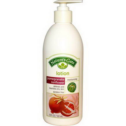 Nature's Gate, Pomegranate Sunflower Moisturizing Lotion, 18 fl oz (532 ml)