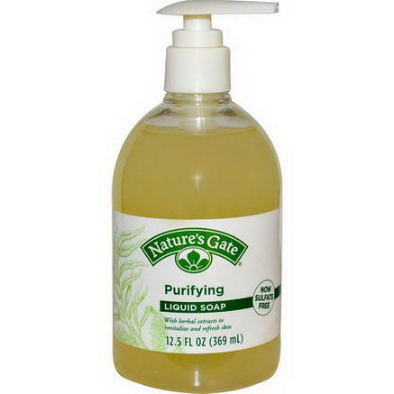Nature's Gate, Purifying Liquid Soap, 12.5 fl oz (369 ml)