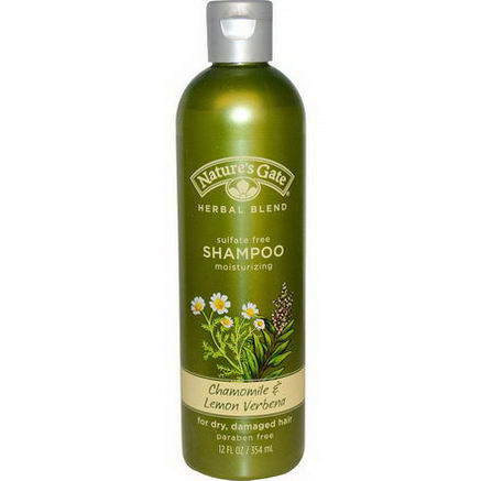 Nature's Gate, Shampoo, For Dry, Damaged Hair, Chamomile & Lemon Verbena, 12 fl oz (354 ml)