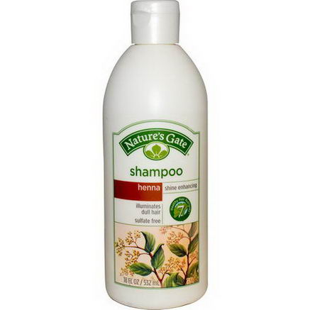 Nature's Gate, Shampoo, Henna, Shine Enhancing, 18 fl oz (532 ml)