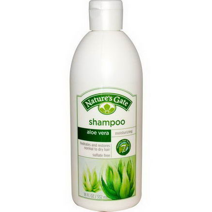 Nature's Gate, Shampoo, Moisturizing, Aloe Vera, 18 fl oz (532 ml)