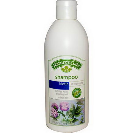 Nature's Gate, Shampoo, Strengthening, Biotin, 18 fl oz (532 ml)