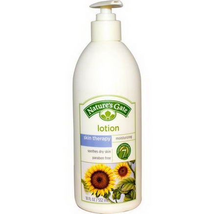 Nature's Gate, Skin Therapy Lotion, Moisturizing, 18 fl oz (532 ml)