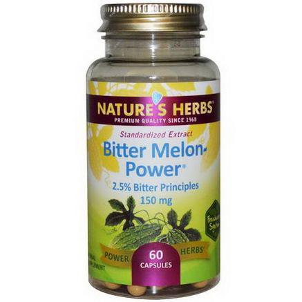 Nature's Herbs, Bitter Melon-Power, 150mg, 60 Capsules