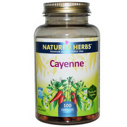Nature's Herbs, Cayenne, 100 Capsules