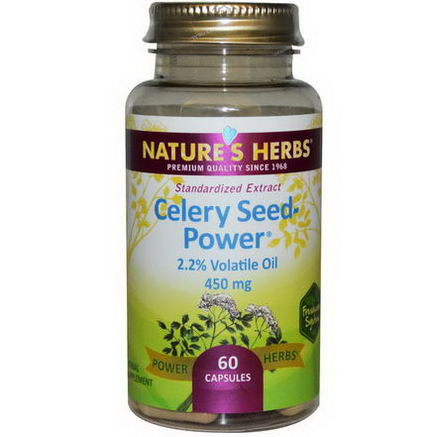 Nature's Herbs, Celery Seed-Power, 450mg, 60 Capsules