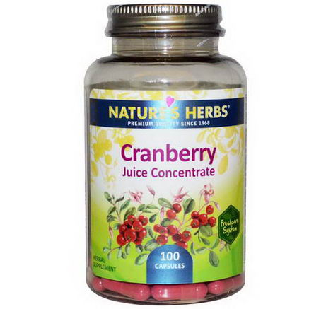 Nature's Herbs, Cranberry Juice Concentrate, 100 Capsules