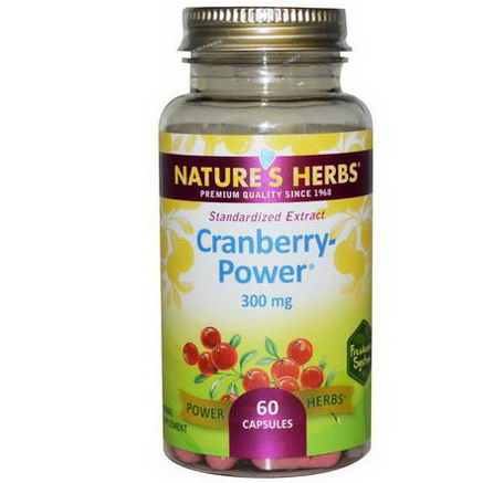 Nature's Herbs, Cranberry-Power, 300mg, 60 Capsules