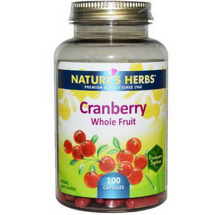 Nature's Herbs, Cranberry Whole Fruit, 100 Capsules