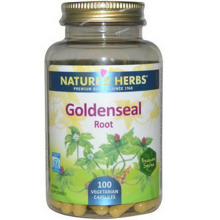 Nature's Herbs, Goldenseal Root, 100 Veggie Caps
