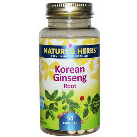 Nature's Herbs, Korean Ginseng Root, 50 Capsules