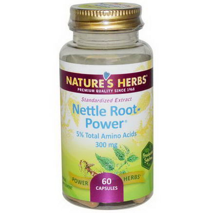 Nature's Herbs, Nettle Root-Power, 300mg, 60 Capsules