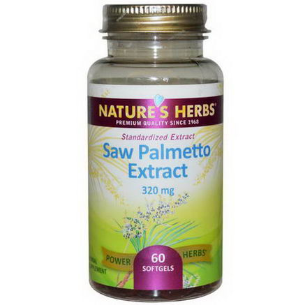 Nature's Herbs, Saw Palmetto Extract, 320mg, 60 Softgels