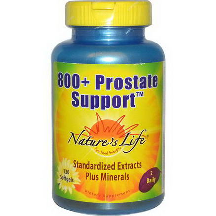 Nature's Life, 800+ Prostate Support, 120 Softgels