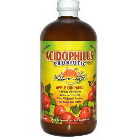 Nature's Life, Acidophilus Probiotic Pro-96, Apple Orchard, 16 fl oz (474 ml) (Ice)