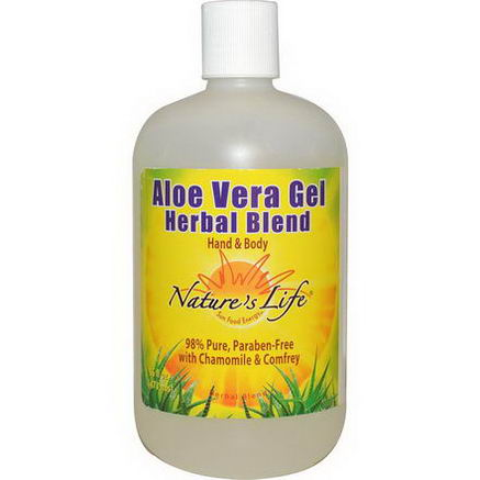 Nature's Life, Aloe Vera Gel Herbal Blend, Hand & Body, 16 fl oz (473 ml)