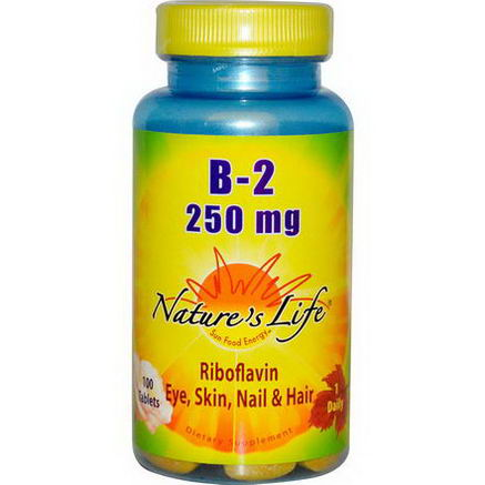 Nature's Life, B-2 Riboflavin, 250mg, 100 Tablets