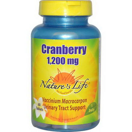 Nature's Life, Cranberry, 1, 200mg, 60 Tablets