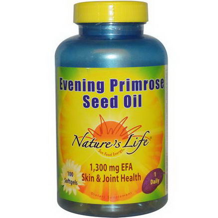 Nature's Life, Evening Primrose Seed Oil, 100 Softgels