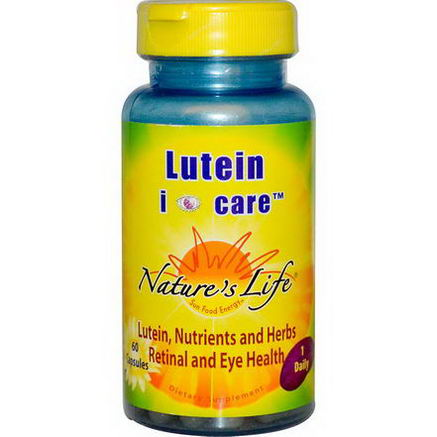 Nature's Life, Lutein i Care, 60 Capsules