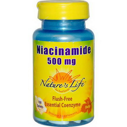 Nature's Life, Niacinamide, 500mg, 100 Tablets