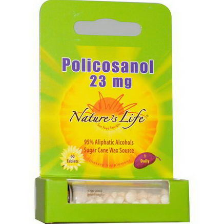 Nature's Life, Policosanol, 23mg, 60 Tablets