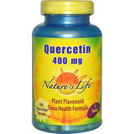 Nature's Life, Quercetin, 400mg, 100 Veggie Caps