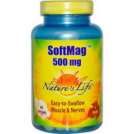 Nature's Life, SoftMag, 500mg, 60 Softgels