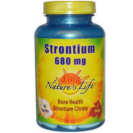 Nature's Life, Strontium, 680mg, 60 Tablets