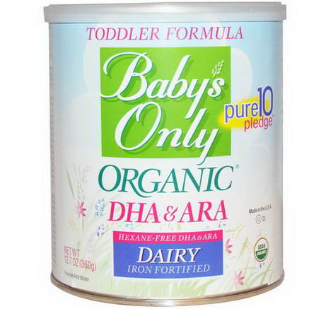 Baby's Only Organic, Toddler Formula, DHA & ARA, Dairy, Iron Fortified, 12.7oz (360g)