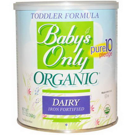 Baby's Only Organic, Toddler Formula, Dairy, Iron Fortified, 12.7oz (360g)