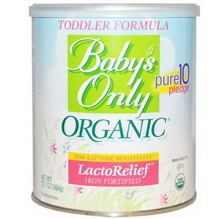 Baby's Only Organic, Toddler Formula, LactoRelief, Iron Fortified, 12.7oz (360g)