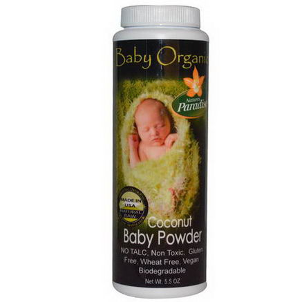 Nature's Paradise, Baby Organic, Coconut Baby Powder, 5.5oz