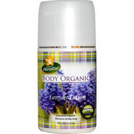 Nature's Paradise, Body Organic, Lavender Lotion, 9 fl oz (250 ml)