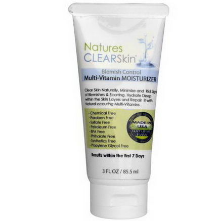 Nature's Paradise, Natures ClearSkin, Blemish Control Multi-Vitamin Moisturizer, 3 fl oz (85.5 ml)
