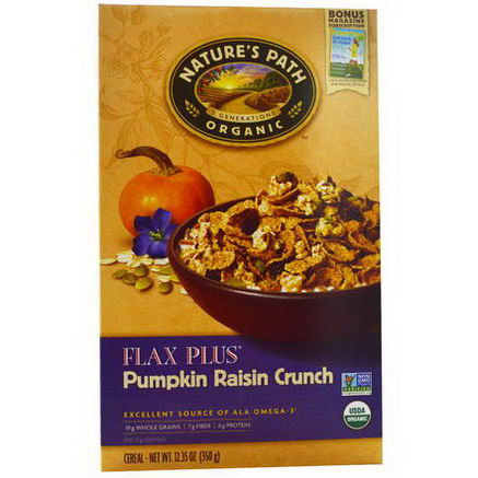 Nature's Path, Organic Flax Plus Cereal, Pumpkin Raisin Crunch, 12.35oz (350g)