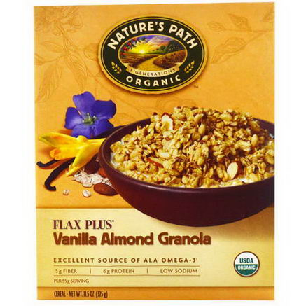 Nature's Path, Organic Flax Plus Granola Cereal, Vanilla Almond, 11.5oz (325g)