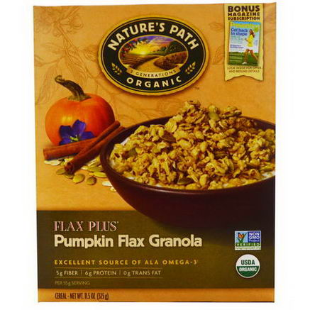 Nature's Path, Organic Flax Plus, Pumpkin Flax Granola Cereal, 11.5oz (325g)