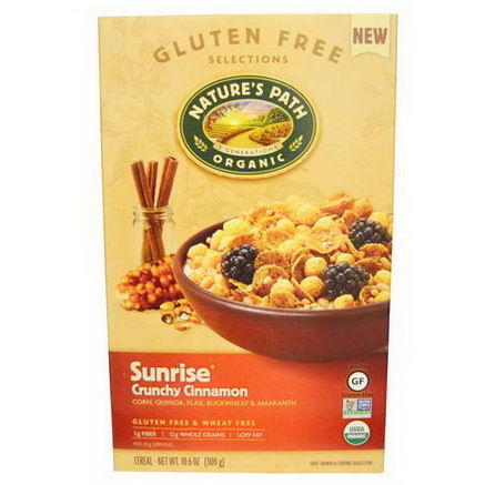 Nature's Path, Organic Sunrise Crunchy Cinnamon Cereal, 10.6oz (300g)