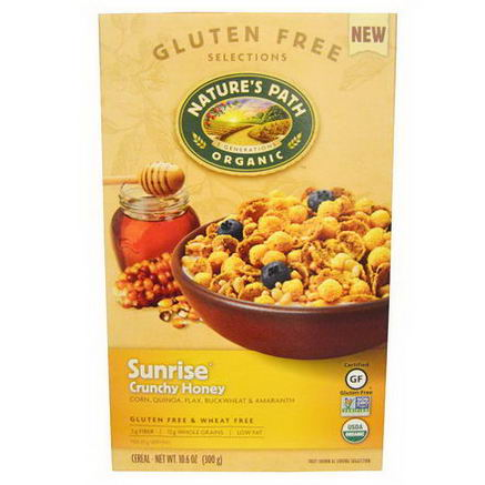 Nature's Path, Organic Sunrise Crunchy Honey Cereal, 10.6oz (300g)
