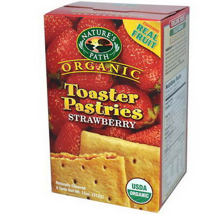 Nature's Path, Organic Toaster Pastries, Strawberry, 6 Tarts, 52g Each