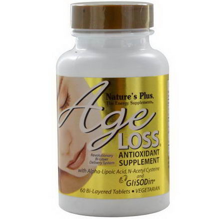 Nature's Plus, AgeLoss, Antioxidant Supplement, 60 Bi-Layered Tablets