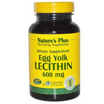 Nature's Plus, Egg Yolk Lecithin, 600mg, 90 Veggie Caps