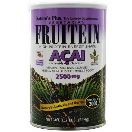 Nature's Plus, Fruitein, High Protein Energy Shake, Acai, 2500mg, 1.2 lbs (544g)