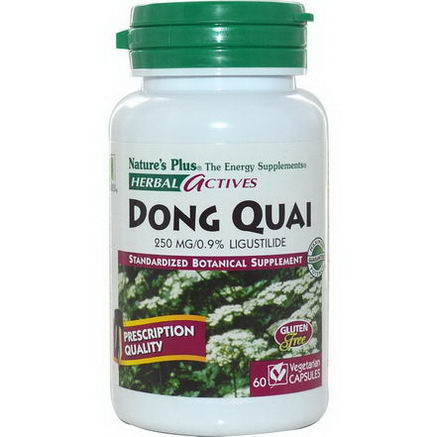Nature's Plus, Herbal Actives, Dong Quai, 250mg, 60 Veggie Caps