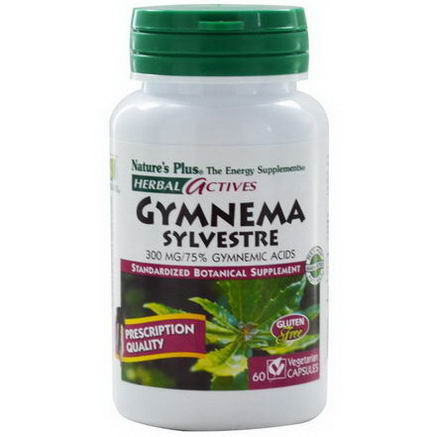 Nature's Plus, Herbal Actives, Gymnema Sylvestre, 300mg, 60 Veggie Caps