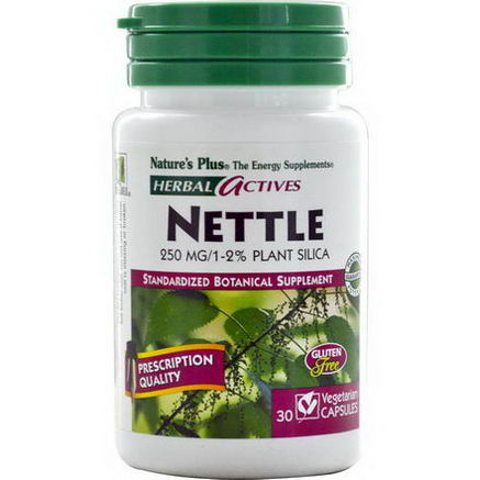 Nature's Plus, Herbal Actives, Nettle, 250mg, 30 Veggie Caps