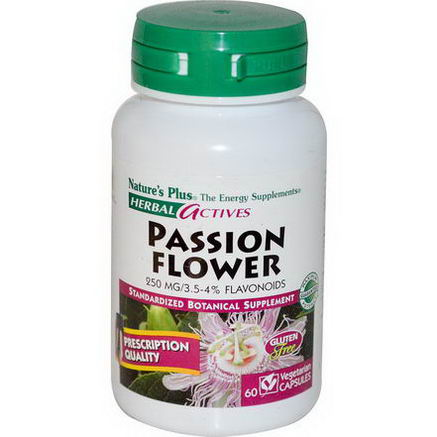 Nature's Plus, Herbal Actives, Passion Flower, 250mg, 60 Veggie Caps
